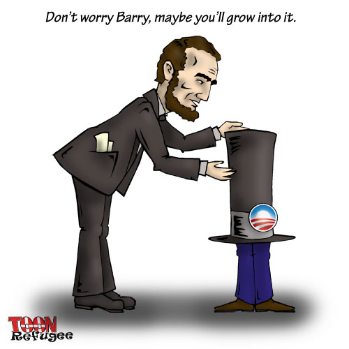 Lincoln Obama Toonrefugee Cartoon Blog
