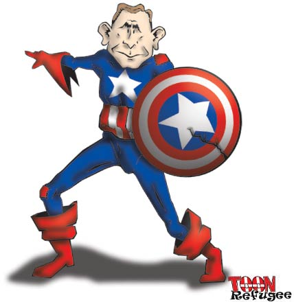 George Bush Superhero