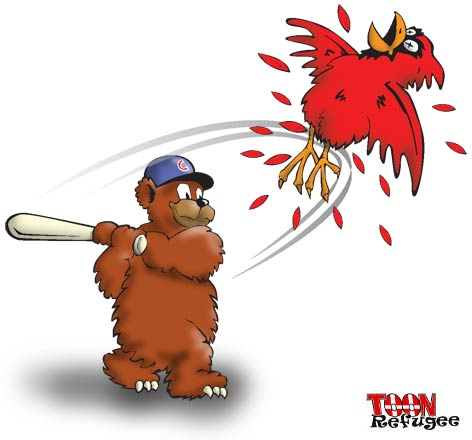 Cubs Slug Cards - TOONrefugee: Cartoon Blog