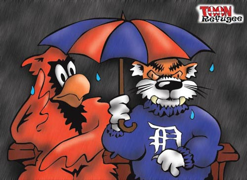 Tigers Cardinals rain delay