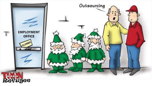 christmas outsourcing