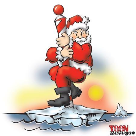 Global Warming Santa